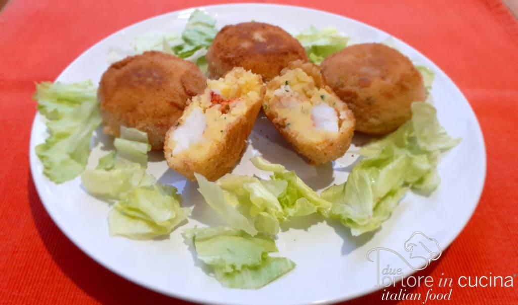 Polpette di patate e gamberi