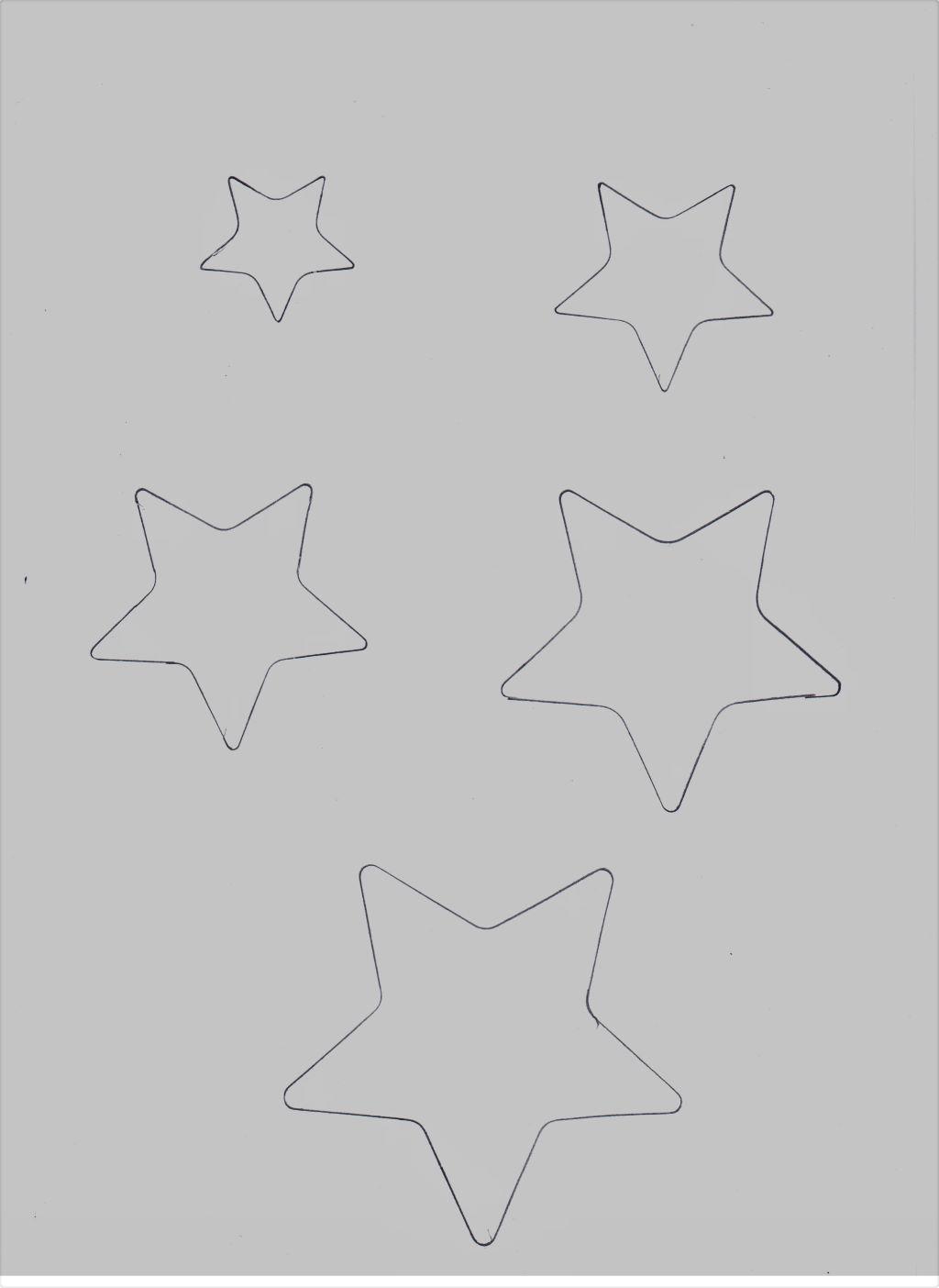 stelline da stampare per alberello di pancarrè