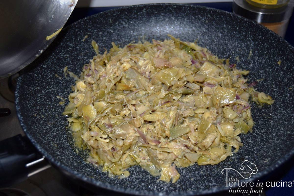 Carciofi cotti per Lasagna con carciofi e besciamella
